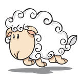 Jump sheep Royalty Free Stock Images