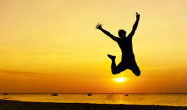 Jump silhouette Royalty Free Stock Images
