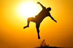 Jump silhouette Royalty Free Stock Photography