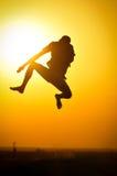 Jump silhouette Stock Photos