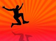 Jump silhouette Stock Image