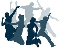 Jump Silhouettes. Happy People Silhouettes , for your design idea Stock Photography