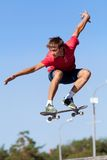 Jump on  skateboard Stock Images