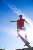 Jump on skateboard Royalty Free Stock Photos