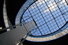 Jump in the sky. The glass roof of the South Railway Station station complex Kiev-Passenger Royalty Free Stock Photography