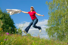 Jump into the sky (series) Stock Images