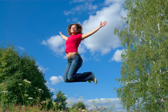 Jump into the sky (series) Royalty Free Stock Image