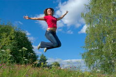 Jump into the sky (series) Royalty Free Stock Photography