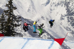 Jump snowboard Stock Photography
