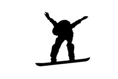 Jump with snowboard Royalty Free Stock Photo