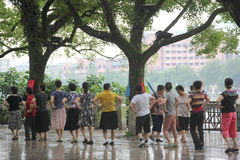 Jump square dance for the elderly in GUILIN ,CHINA,ASIA Stock Photography