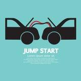 Jump Start. Car Vector Illustration Royalty Free Stock Images