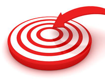 Jump on the target. 3D render Royalty Free Stock Photos