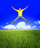 Jump to be free Royalty Free Stock Photography