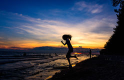 Jump to beach in Khao Laemya National Park Stock Photography