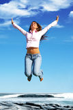 Jump to freedom! Stock Photography