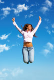 Jump to the freedom! Stock Images