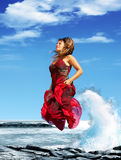 Jump to freedom! Royalty Free Stock Image