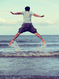 Jump to the freedom Royalty Free Stock Images