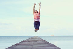 Jump to the freedom Royalty Free Stock Photos