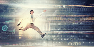Jump to future technologies Stock Images