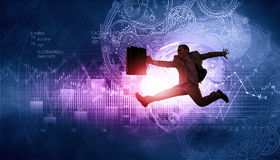 Jump to future technologies Royalty Free Stock Image