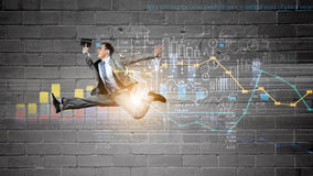 Jump to future technologies Stock Photo