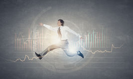 Jump to future technologies Royalty Free Stock Photography