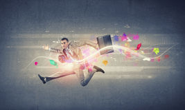 Jump to future technologies Stock Photography
