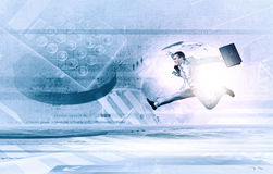 Jump to future technologies Royalty Free Stock Images