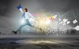 Jump to future technologies Royalty Free Stock Photo