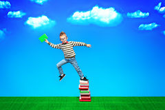 Jump to knowledge Stock Photo