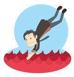 Jump to red ocean Royalty Free Stock Image