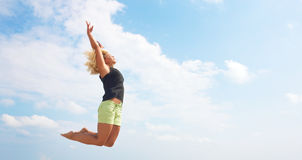 Jump to the sky Royalty Free Stock Photo