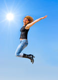 Jump to the sun Stock Images