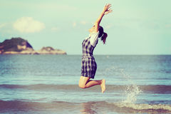 Free Jump To The Freedom Royalty Free Stock Photography - 54621467
