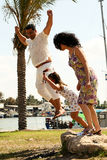 Jump together Royalty Free Stock Photography