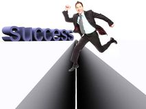 Jump tp success Royalty Free Stock Photography