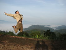 Jump up to Khao Phanoen Thung in Thailand. Stock Photo