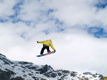 Jump With A Snow Stock Images