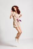 Jump woman Royalty Free Stock Image