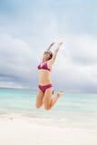 Jump woman Royalty Free Stock Photo