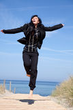 Jump woman Stock Photos