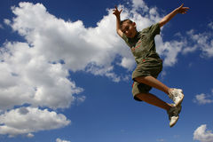 Jump1 Fotografia Stock