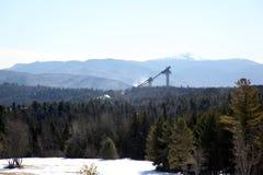 jump2 ήρεμο σκι λιμνών Στοκ εικόνες με δικαίωμα ελεύθερης χρήσης