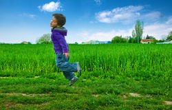 Jumped boy Royalty Free Stock Photo