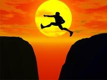 Jumper. 3d illustration of jumper silhouette Royalty Free Stock Image