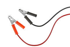 Jumper cable isolated on white background Royalty Free Stock Photo