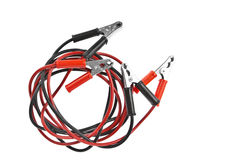 Jumper cable isolated on white background Royalty Free Stock Photography