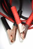 jumper cable leads/clamps Stock Images
